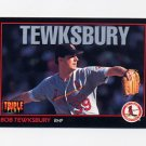 1993 Donruss Triple Play Baseball #156 Bob Tewksbury - St. Louis Cardinals
