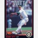 1993 Donruss Triple Play Baseball #141 Bobby Witt - Oakland A's