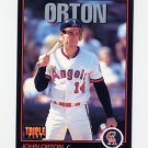 1993 Donruss Triple Play Baseball #131 John Orton - California Angels