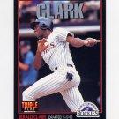 1993 Donruss Triple Play Baseball #126 Jerald Clark - Colorado Rockies
