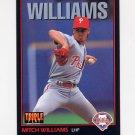 1993 Donruss Triple Play Baseball #125 Mitch Williams - Philadelphia Phillies