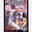 1993 Donruss Triple Play Baseball #099 Dave Fleming - Seattle Mariners