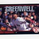 1993 Donruss Triple Play Baseball #046 Mike Greenwell - Boston Red Sox
