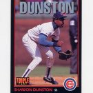 1993 Donruss Triple Play Baseball #040 Shawon Dunston - Chicago Cubs