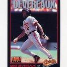 1993 Donruss Triple Play Baseball #034 Mike Devereaux - Baltimore Orioles