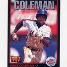 1993 Donruss Triple Play Baseball #014 Vince Coleman - New York Mets