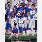 1995 Upper Deck Football #048 Vincent Brisby - New England Patriots