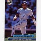 1992 Ultra Baseball #451 Candy Maldonado - Toronto Blue Jays