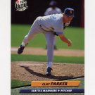 1992 Ultra Baseball #435 Clay Parker - Seattle Mariners