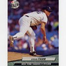 1992 Ultra Baseball #405 Steve Farr - New York Yankees