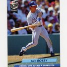 1992 Ultra Baseball #376 Rico Rossy - Kansas City Royals