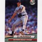 1992 Ultra Baseball #303 Ben McDonald - Baltimore Orioles