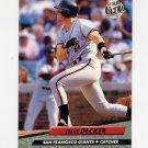 1992 Ultra Baseball #289 Steve Decker - San Francisco Giants