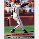1992 Ultra Baseball #288 Royce Clayton - San Francisco Giants