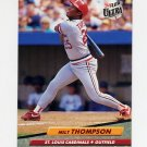 1992 Ultra Baseball #272 Milt Thompson - St. Louis Cardinals