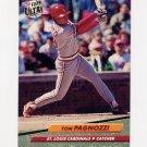1992 Ultra Baseball #268 Tom Pagnozzi - St. Louis Cardinals