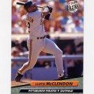 1992 Ultra Baseball #256 Lloyd McClendon - Pittsburgh Pirates