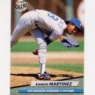 1992 Ultra Baseball #213 Ramon Martinez - Los Angeles Dodgers