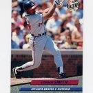 1992 Ultra Baseball #168 Lonnie Smith - Atlanta Braves