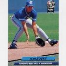 1992 Ultra Baseball #156 Eddie Zosky - Toronto Blue Jays
