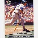 1992 Ultra Baseball #107 Matt Nokes - New York Yankees
