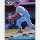 1992 Ultra Baseball #074 Brent Mayne - Kansas City Royals