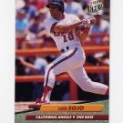 1992 Ultra Baseball #031 Luis Sojo - California Angels