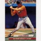 1992 Ultra Baseball #001 Glenn Davis - Baltimore Orioles