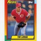 1990 Topps Traded Baseball #055T Tim Layana RC - Cincinnati Reds