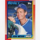 1990 Topps Baseball #789 John Wathan MG - Kansas City Royals