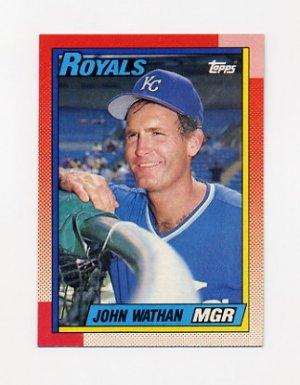 1990 Topps Baseball #789 John Wathan MG - Kansas City Royals