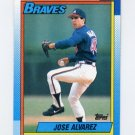1990 Topps Baseball #782 Jose Alvarez - Atlanta Braves