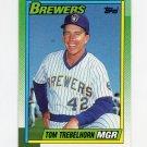 1990 Topps Baseball #759 Tom Trebelhorn MG - Milwaukee Brewers
