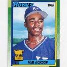 1990 Topps Baseball #752 Tom Gordon - Kansas City Royals
