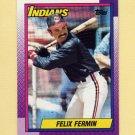 1990 Topps Baseball #722 Felix Fermin - Cleveland Indians