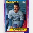 1990 Topps Baseball #706 Geno Petralli - Texas Rangers