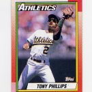1990 Topps Baseball #702 Tony Phillips - Oakland A's