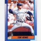 1990 Topps Baseball #695 Tom Henke - Toronto Blue Jays