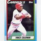 1990 Topps Baseball #660 Vince Coleman - St. Louis Cardinals