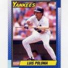 1990 Topps Baseball #634 Luis Polonia - New York Yankees