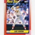 1990 Topps Baseball #601 Luis Rivera - Boston Red Sox