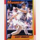 1990 Topps Baseball #593 Scott Bradley - Seattle Mariners