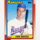 1990 Topps Baseball #562 Chad Kreuter - Texas Rangers