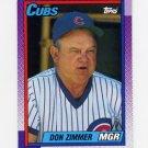 1990 Topps Baseball #549 Don Zimmer MG - Chicago Cubs