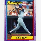 1990 Topps Baseball #496 Cecil Espy - Texas Rangers