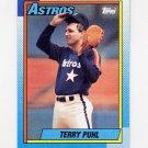1990 Topps Baseball #494 Terry Puhl - Houston Astros