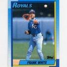 1990 Topps Baseball #479 Frank White - Kansas City Royals