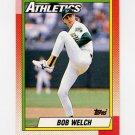 1990 Topps Baseball #475 Bob Welch - Oakland A's