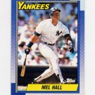 1990 Topps Baseball #436 Mel Hall - New York Yankees