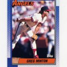 1990 Topps Baseball #421 Greg Minton - California Angels